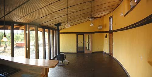 Strawbale interior 2