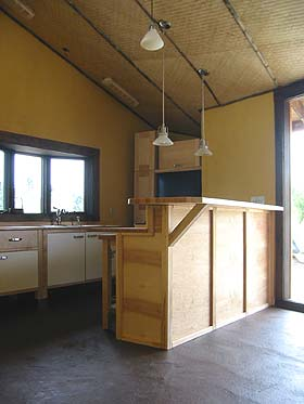 Strawbale kitchen