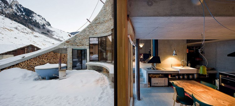 Underground house exterior winter 4