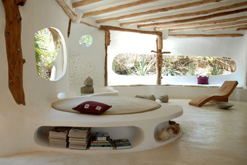 Organic house lounge and built in sofa
