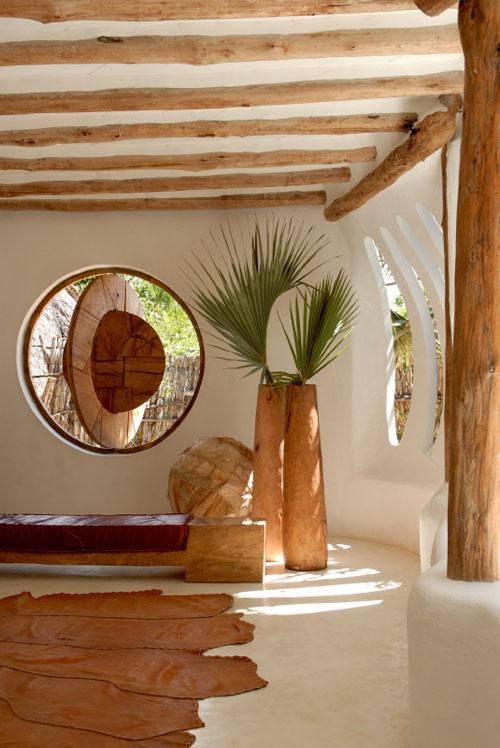 Organic house living bench